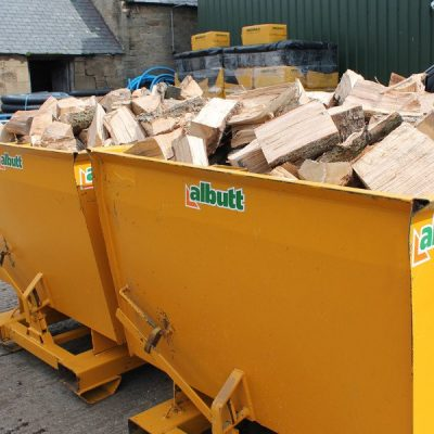 2 x Skip Loose Load Logs Hardwood, Softwood or Mixed Load