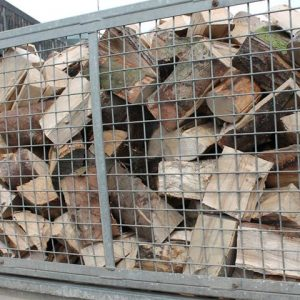1 x Skip Loose Load Logs Hardwood, Softwood or Mixed Load Close up