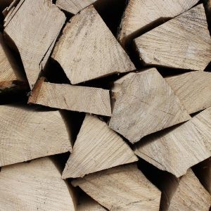 Kiln dried logs close up