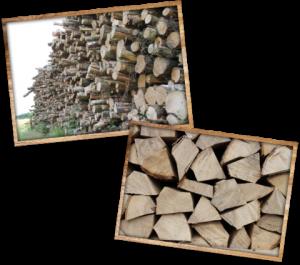 Softwood, hardwood, kindling and kiln dried logs